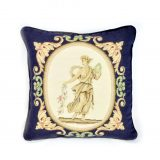 "16""x16"" Wool Needlepoint Greek Goddess Navy Blue Cushion Cover Pillow Case 12981044"