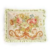 """16""""x20"""" Wool Needlepoint Rose Bouquet Cushion Cover Pillow Case 12981046"""