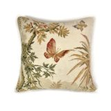 16″x16″ Wool Needlepoint and Petit Point Butterfly Cushion Cover Pillow Case 12981052