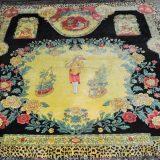8′2″ x 8′2″ GIANNI VERSACE ATELIER Handknotted Silk Chinese Gardener Wall Hanging Rug 12981053