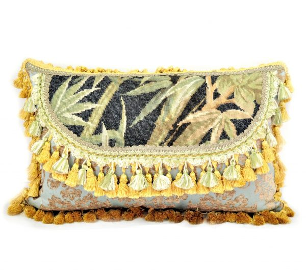 16″x24″ Custom Made Bamboo Needlepoint Pillow 12981069
