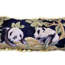 16″x34″ Custom Made Panda Needlepoint Pillow 12981067