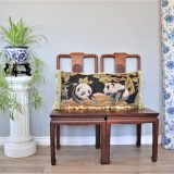 16″x34″ Custom Made Panda Needlepoint Pillow 12981067